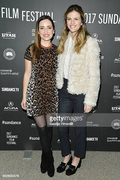 Filmmaker Zoe ListerJones and Actress Brooklyn Decker attend the Band Aid Premiere at Eccles Center Theatre on January 24 2017 in Park City Utah