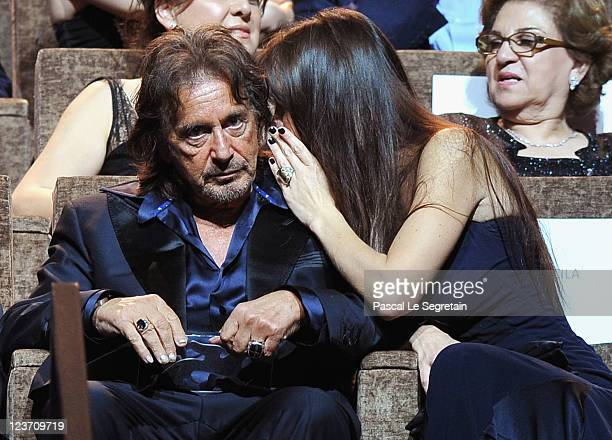 Filmmaker/actor Al Pacino and Lucila Sola attend the Wild Salome premiere during the 68th Venice Film Festival at Palazzo del Cinema on September 4...