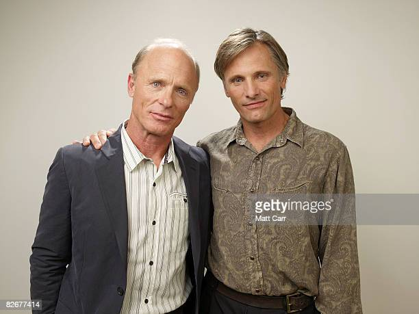 Filmmaker/actor Ed Harris and actor Viggo Mortensen from the film Appaloosa pose for a portrait during the 2008 Toronto International Film Festival...