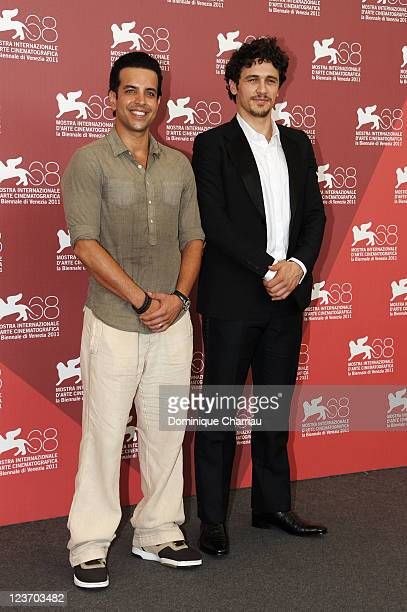 """Filmmaker/actor James Franco and actor Val Lauren attend the """"Sal"""" Photocall during the 68th Venice International Film Festival at Palazzo del Casino..."""