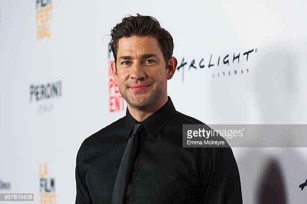 Filmmaker/actor John Krasinski attends the premiere of 'The Hollars' during the 2016 Los Angeles Film Festival at ArcLight Cinemas on June 3 2016 in...