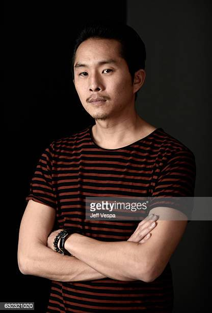 Filmmaker/actor Justin Chon from the film Gook poses for a portrait in the WireImage Portrait Studio presented by DIRECTV during the 2017 Sundance...