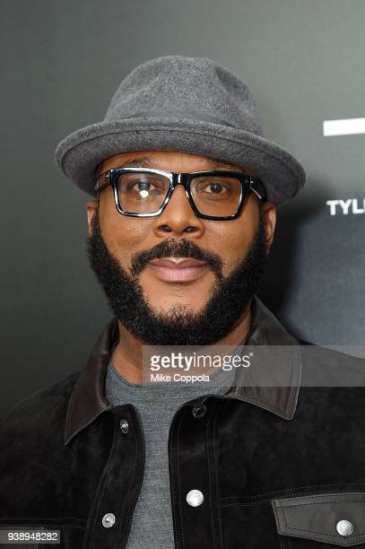 Filmmaker/actor Tyler Perry attends the Acrimony New York Premiere Taraji P Henson on March 27 2018 in New York City