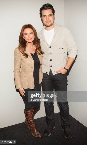 Filmmaker/actress Roma Downey and actor Diogo Morgado attend Meet The Filmmakers>> at Apple Store Soho on February 24 2014 in New York City