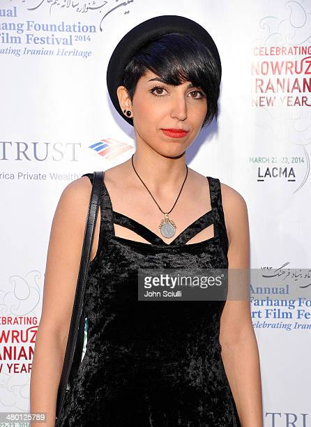 Filmmaker/Actress Taravat Khalili attends the 6th Annual Farhang Foundation's Short Film Festival award ceremony and reception at LACMA on March 22...