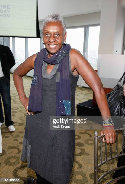 Filmmaker/fashion icon Bethann Hardison attends the TAA Welcome Lunch at the 2011 Tribeca Film Festival at Time Warner Center on April 25 2011 in New...
