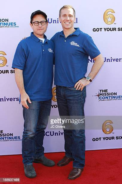 Filmmaker/Producer JJ Abrams and CEO The Mission Continues Eric Greitens attend Got Your 6 and The Mission Continues Service Project Event at The...