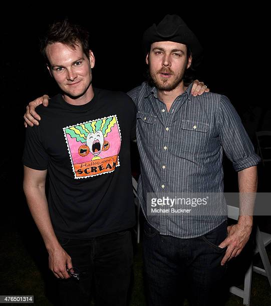 Filmmakers Aaron and Adam Nee attend the 2015 Los Angeles Film Festival Filmmaker Retreat at the Parker Palm Springs on June 9 2015 in Palm Springs...