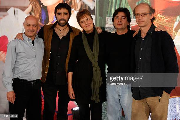 Filmmakers Alejandro Springal Carlos Bolado Maria Novarro Antonio Urrutia and Juan Carlos Rulfo during the presentation of the activities during the...