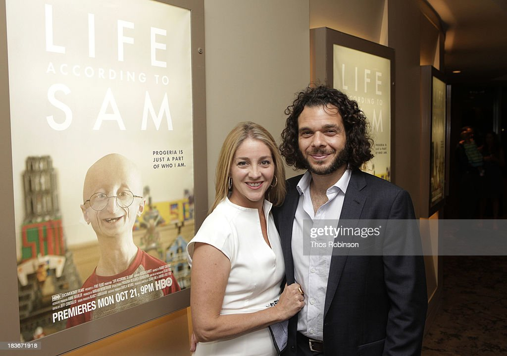 Filmmakers Andrea Nix Fine and Sean Fine attend The New York Premiere Of HBO's 'Life According To Sam' at HBO Theater on October 8, 2013 in New York City.