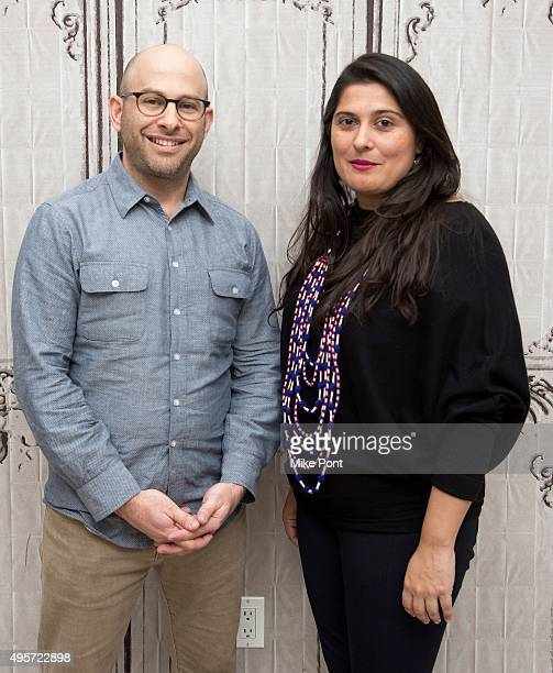 Filmmakers Andy Schocken and Sharmeen ObaidChinoy discuss the film Song of Lahore at AOL Studios In New York on November 4 2015 in New York City