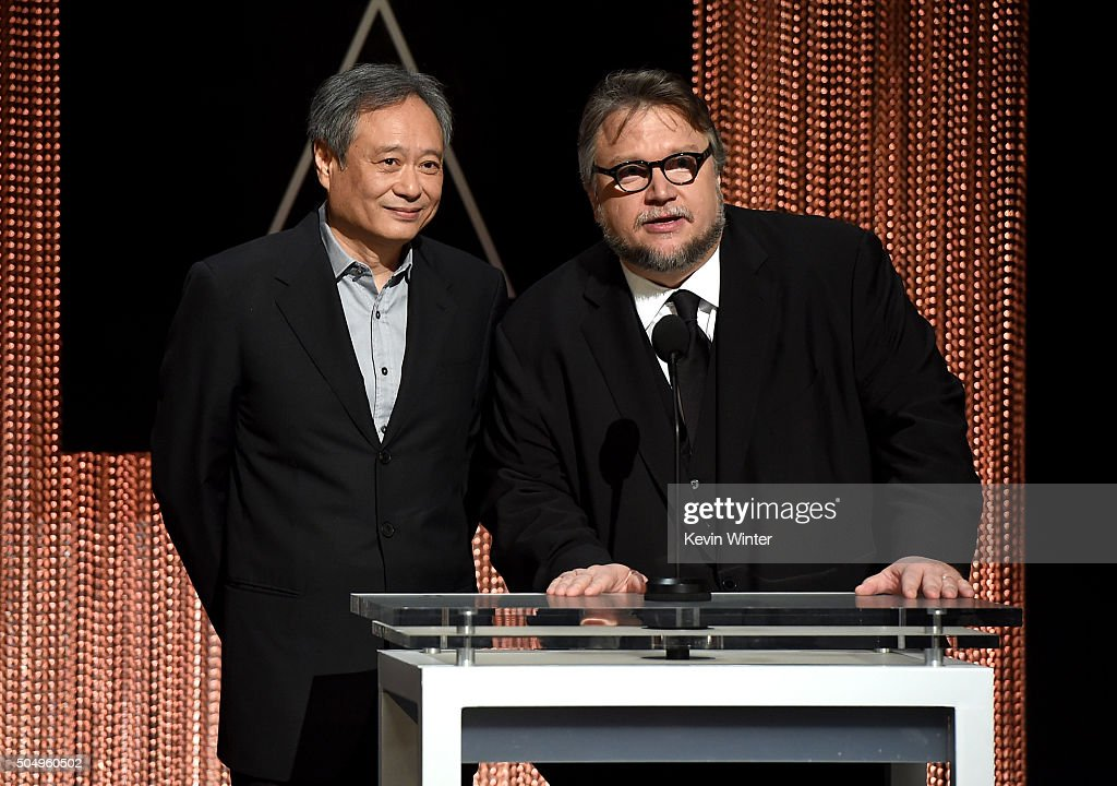 Filmmakers Ang Lee (L) and Guillermo del Toro announce the nominees during the 88th Oscars Nominations Announcement at the Academy of Motion Picture Arts and Sciences on January 14, 2016 in Los Angeles, California.