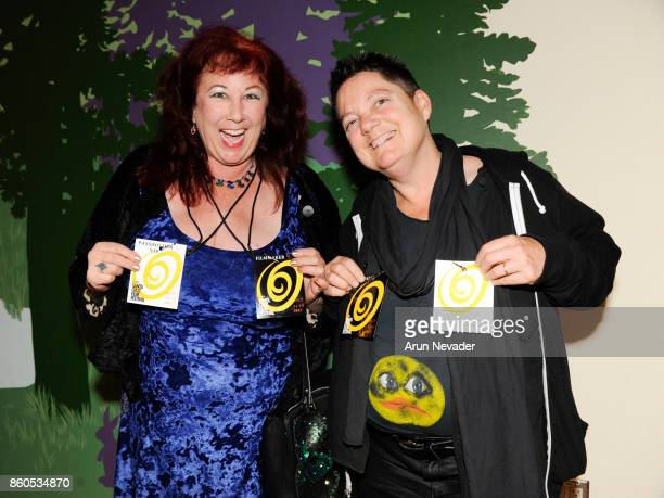 Filmmakers Annie Sprinkle and Beth Stephens appear at the Santa Cruz Film Festival Opening Night Party at Oasis on October 11 2017 in Santa Cruz...