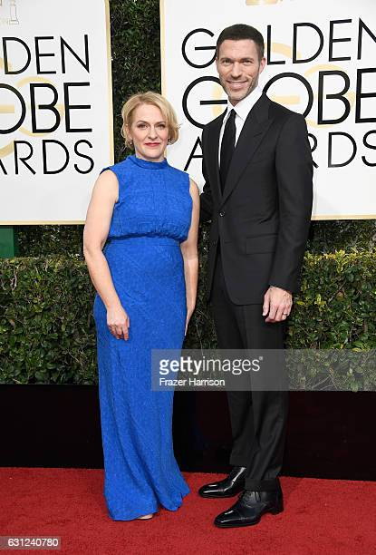 Filmmakers Arianne Sutner and Travis Knight attend the 74th Annual Golden Globe Awards at The Beverly Hilton Hotel on January 8 2017 in Beverly Hills...