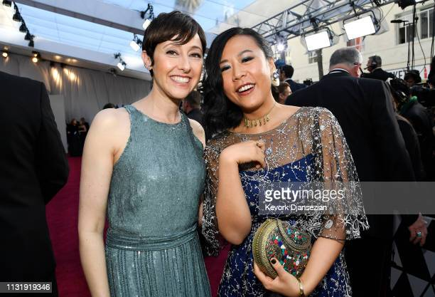 Filmmakers Becky NeimanCobb and Domee Shi attend the 91st Annual Academy Awards at Hollywood and Highland on February 24 2019 in Hollywood California
