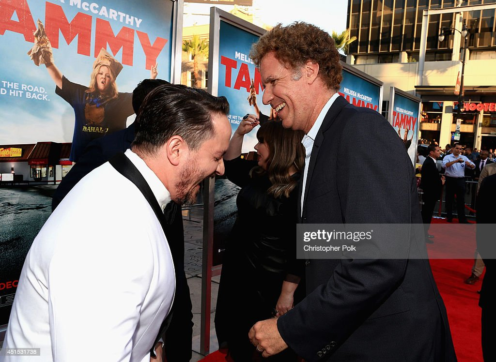 Filmmakers Ben Falcone and producer Will Ferrell attend the 'Tammy' Los Angeles premiere at TCL Chinese Theatre on June 30, 2014 in Hollywood, California.