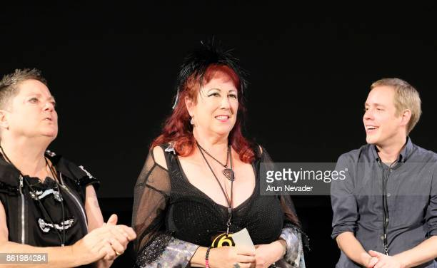 Filmmakers Beth Stephens and Annie Sprinkle appear with Festival Programmer Logan Walker for the Q and A to their film Water Makes Us Wet at the...
