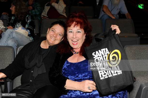 Filmmakers Beth Stephens and Annie Sprinkle attend the award winning opening film Cinema Travellers at the Santa Cruz Film Festival opening night at...