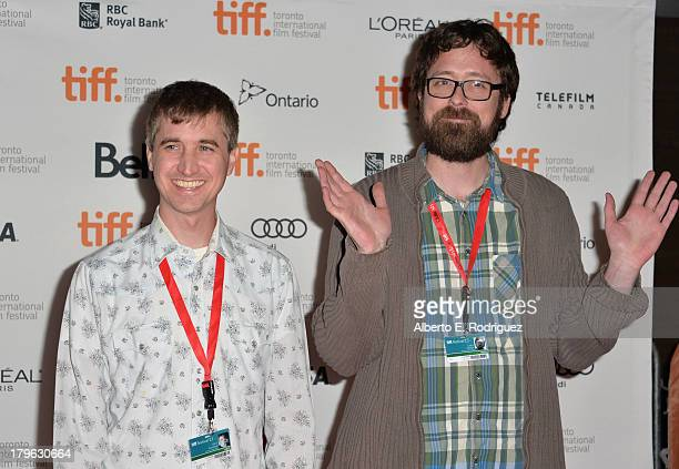 Filmmakers Chris Sivertson and Lucky McKee arrive at the All Cheerleaders Die premiere during the 2013 Toronto International Film Festival at Ryerson...