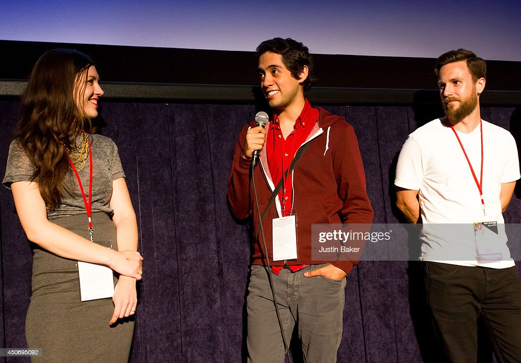 Filmmakers Claire Marie Vogel, Carlos Lopez Estrada and Devon Gibbs speak onstage at Eclectic Mix 1 during the 2014 Los Angeles Film Festival at Regal Cinemas L.A. Live on June 13, 2014 in Los Angeles, California.