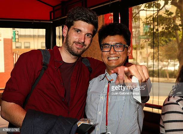 Filmmakers Dajan Javorac and Lamin Oo attend the AFS Luncheon during the 2015 Los Angeles Film Festival at Casa Nostra on June 11, 2015 in Los...