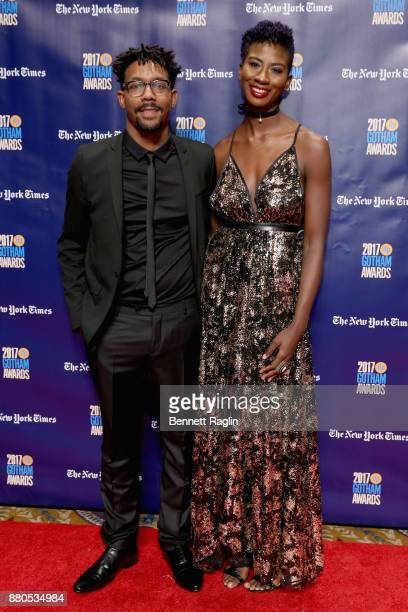 Filmmakers Damon Davis and Sabaah Folayan attends the 2017 Gotham Awards sponsored by Greater Ft Lauderdale Tourism at Cipriani Wall Street on...