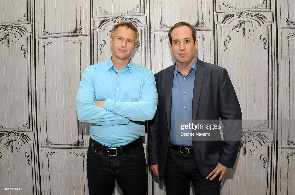 Filmmakers Daniel Junge (L) and Kief Davidson attend AOL Build Presents: 'A LEGO Brickumentary' at AOL Studios In New York on July 28, 2015 in New York City.