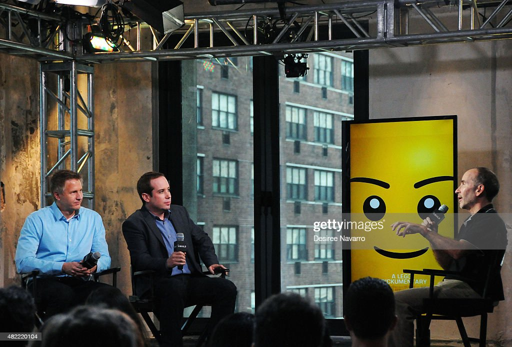 Filmmakers Daniel Junge and Kief Davidson discuss their documentary with moderator David Freeman during AOL Build Presents: 'A LEGO Brickumentary' at AOL Studios In New York on July 28, 2015 in New York City.