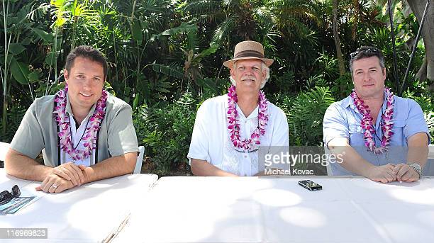 Filmmakers David Cumming Turk Pipkin Laurent Le Gall attend the Filmmakers Panel at Wailea Marriott at the 2011 Maui Film Festival At Wailea on June...