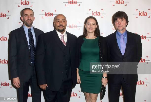 Filmmakers David McMahon Raymond Santana Sara Burns and Ken Burns attends the International Documentary Association's 2012 IDA Documentary Awards at...