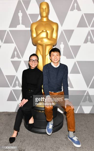Filmmakers Diane Quon and Bing Liu attend 91st Oscars Oscar Week Documentaries at the Academy of Motion Picture Arts and Sciences on February 19 2019...