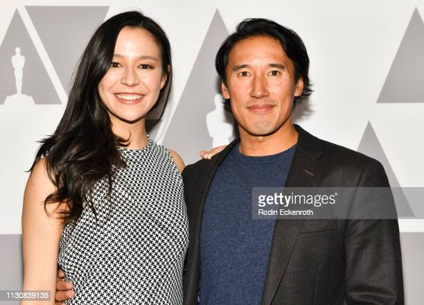 Filmmakers Elizabeth Chai Vasarhelyi and Jimmy Chin attend 91st Oscars Oscar Week Documentaries at the Academy of Motion Picture Arts and Sciences on...