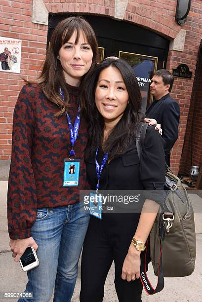 Filmmakers Emily Moore and Joyce Chen attend the Telluride Film Festival 2016 on September 3 2016 in Telluride Colorado