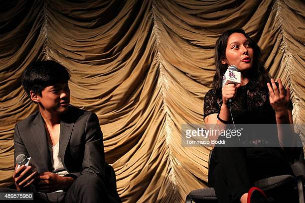 Filmmakers Eugene Ko and Leslie Torres attend the Film Independent at LACMA screening and QA of Ghetto Film School Los Angeles held at the Bing...