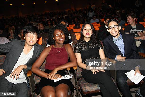 Filmmakers Eugene Ko Gillian Lyons Leslie Torres and Andrew Velasquez attend the Film Independent at LACMA screening and QA of Ghetto Film School Los...