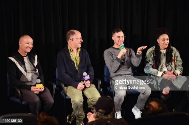 Filmmakers Fenton Bailey Randy Barbato figure skater Adam Rippon and actor Amber Whittington attend the Los Angeles special screening of Stonewall...