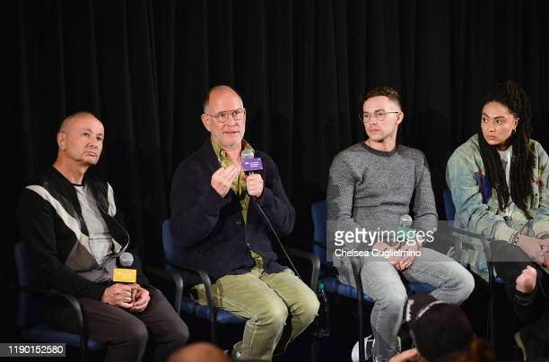 "Filmmakers Fenton Bailey, Randy Barbato, figure skater Adam Rippon and actor Amber Whittington attend the Los Angeles special screening of ""Stonewall..."