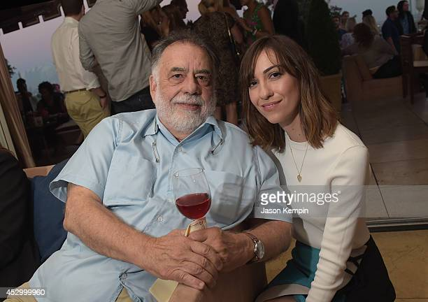 Filmmakers Francis Ford Coppola and Gia Coppola attend the Francis Ford Coppola Winery's Gia By Gia Coppola Wine Launch Celebration at Sunset Tower...