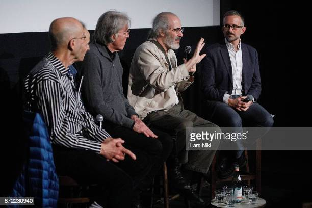 Filmmakers Frank Mouris Nick Doob composer Michael Riesman filmmaker Robert Swarthe and host Brian Meacham on stage during the Restored Animation...