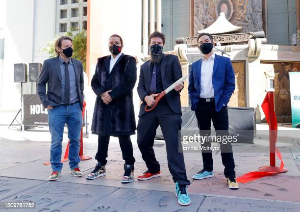 Filmmakers Gareth Edwards, Jordan Vogt-Roberts, Adam Wingard, and Michael Dougherty attend the post-pandemic reopening and ribbon cutting ceremony...