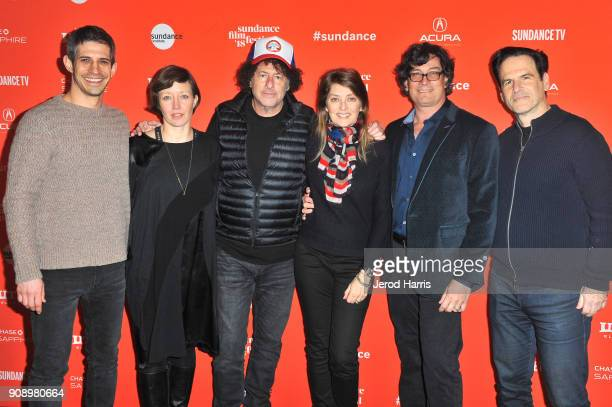 Filmmakers Gregory Kershaw Charlotte Munch Bengsten Michael R Dweck Cecilia Luppi Michael L Dweck and David Greenwald attend the 'The Last Race' and...