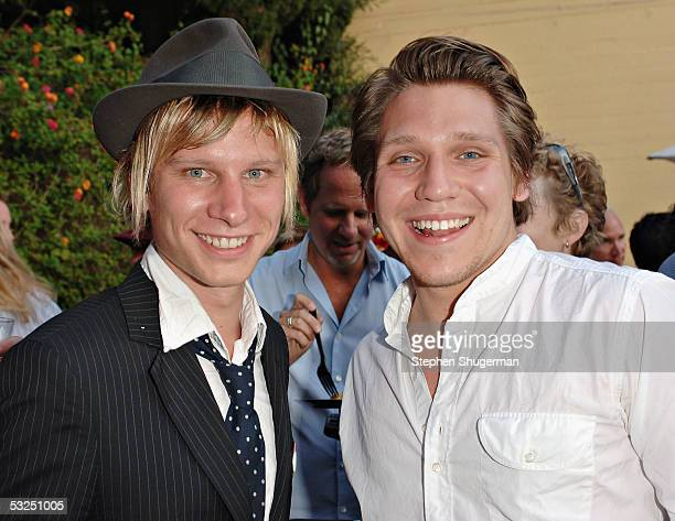 Filmmakers Hanno Koffler and Robert Stadlober arrive at the Outfest 2005 Awards Night on July 17 2005 at the John Anson Ford Amphitheatre in Los...