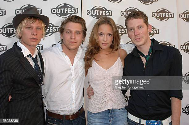 Filmmakers Hanno Koffler and Robert Stadlober with actress Alicja BachledaCurus and director Marco Kreuzpaintner arrive at the Outfest 2005 Awards...