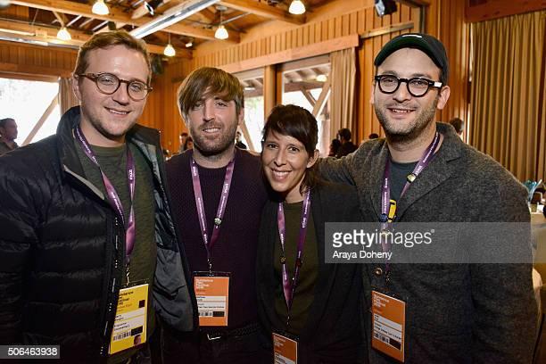 Filmmakers Harry Vaughn, Mathew Orzel, Heidi Brandenburg and Josh Fox attend the Directors' Brunch during the 2016 Sundance Film Festival at Sundance...