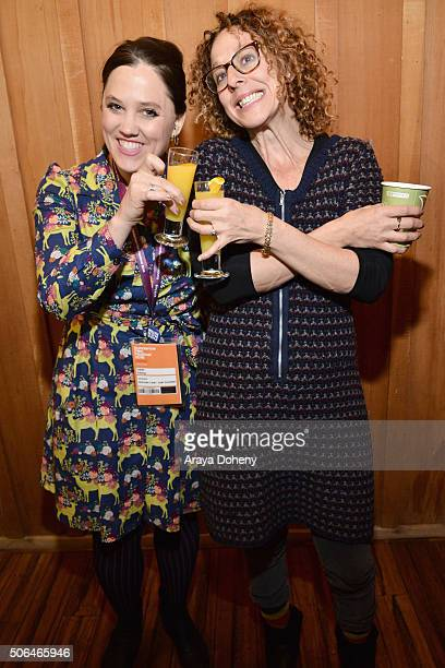 Filmmakers Heidi Ewing and Rachel Grady of Loki Films attend attend the Directors' Brunch during the 2016 Sundance Film Festival at Sundance Resort...