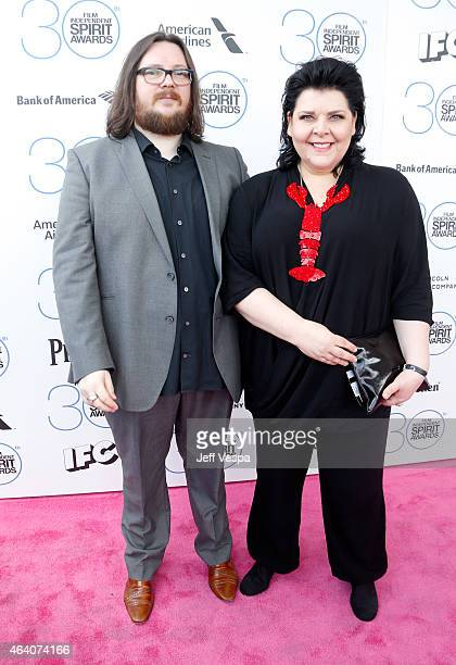 Filmmakers Iain Forsyth and Jane Pollard attend the 2015 Film Independent Spirit Awards at Santa Monica Beach on February 21, 2015 in Santa Monica,...