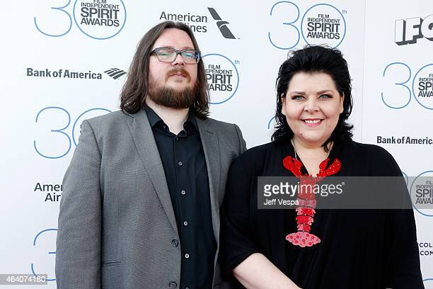 Filmmakers Iain Forsyth and Jane Pollard attend the 2015 Film Independent Spirit Awards at Santa Monica Beach on February 21 2015 in Santa Monica...