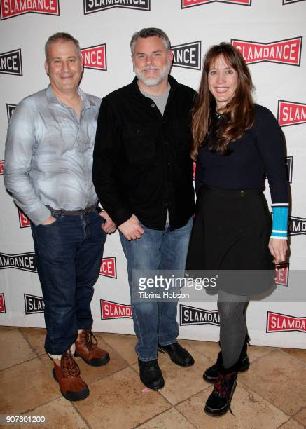 Filmmakers Ian Reinhard, Don Hardy and Dana Nachman attend the Slamdance Film Festival official opening night premiere of 'Pick Of The Litter' at...