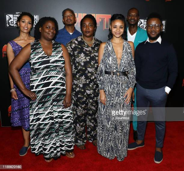 Filmmakers in the Short Film competition attend the premiere of Shaft during the 23rd Annual American Black Film Festival on June 12 2019 in Miami...