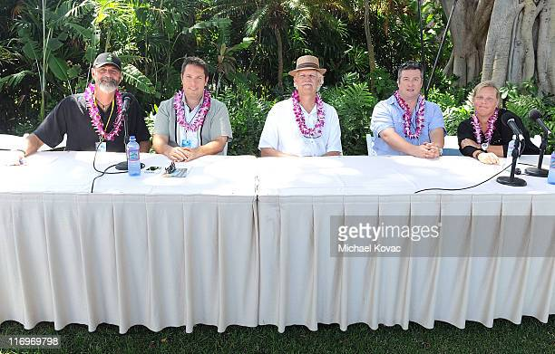 Filmmakers Jack McCoy David Cumming Turk Pipkin Laurent Le Gall and moderator Nancy Schafer attend the Filmmakers Panel at Wailea Marriott at the...